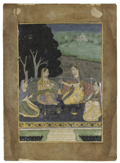 A NIGHT SCENE WITH FOUR WOMEN,