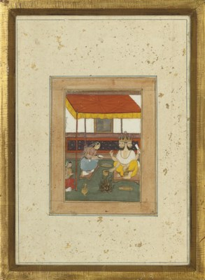 TWO MUGHAL STYLE PAINTINGS, IN