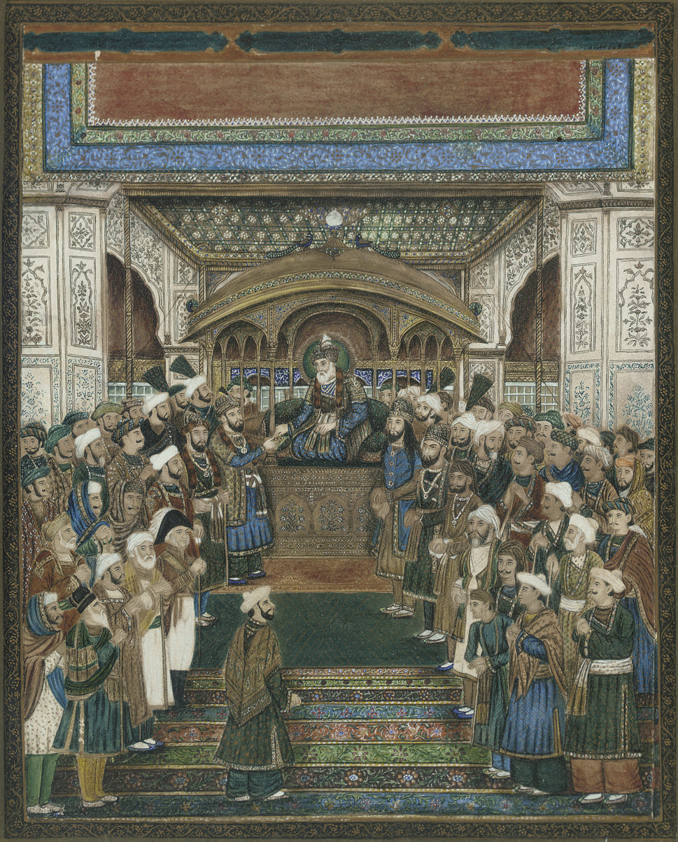 DURBAR OF AKBAR II, INDIA, DEL