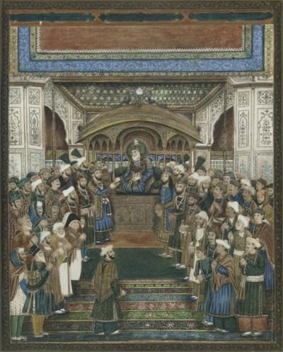 DURBAR OF AKBAR II, INDIA, DEL