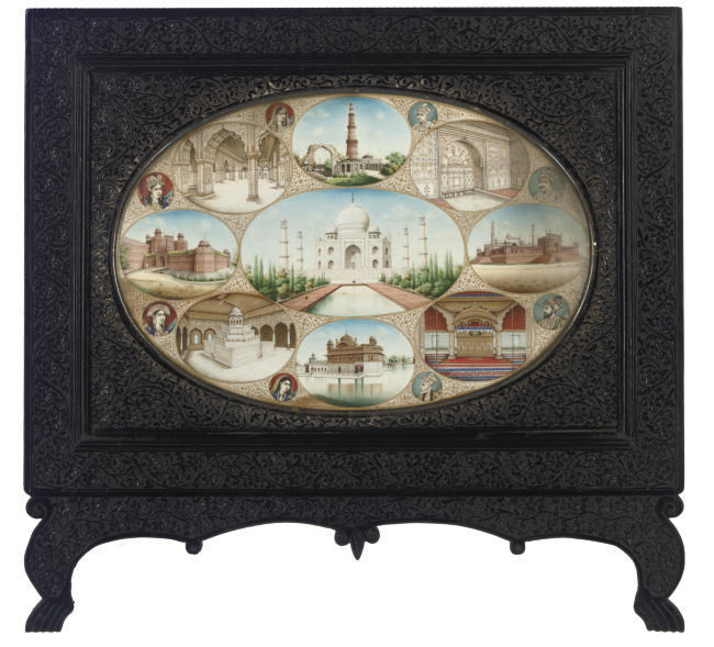 A LARGE IVORY MINIATURE OF THE