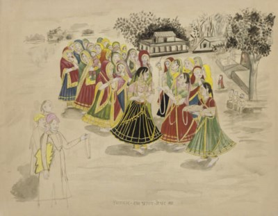 AN UNFINISHED PAINTING BY RAM