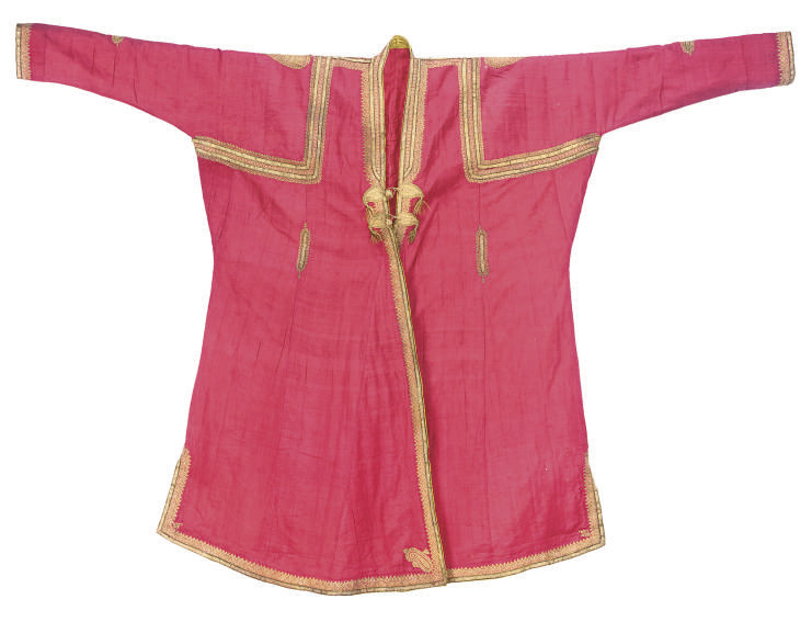 A RED KASHMIR WOOL COAT