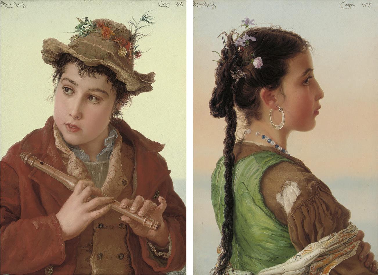 A Capri boy; and A Capri girl