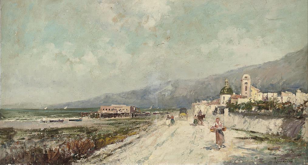 A busy coastal road