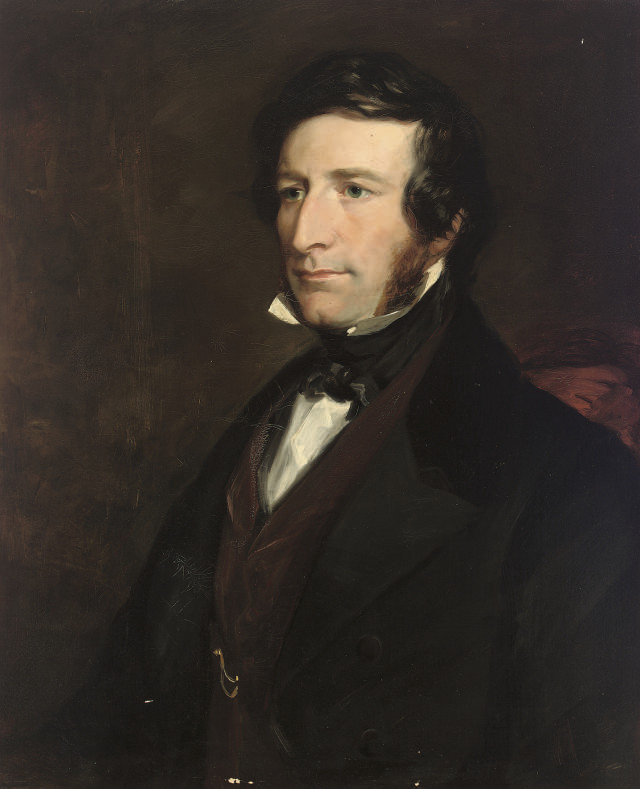 Portrait of Sir George Cornewall Lewis, Bart. MP (1806-1863), half-length