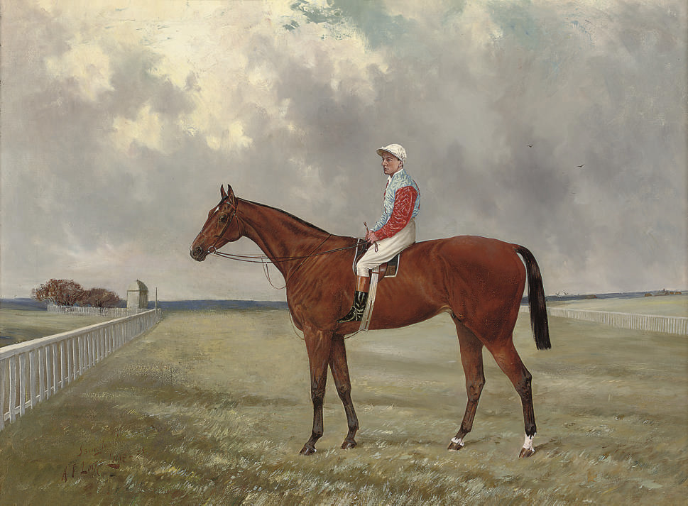 Isinglass with Tommy Loates up, on a race course