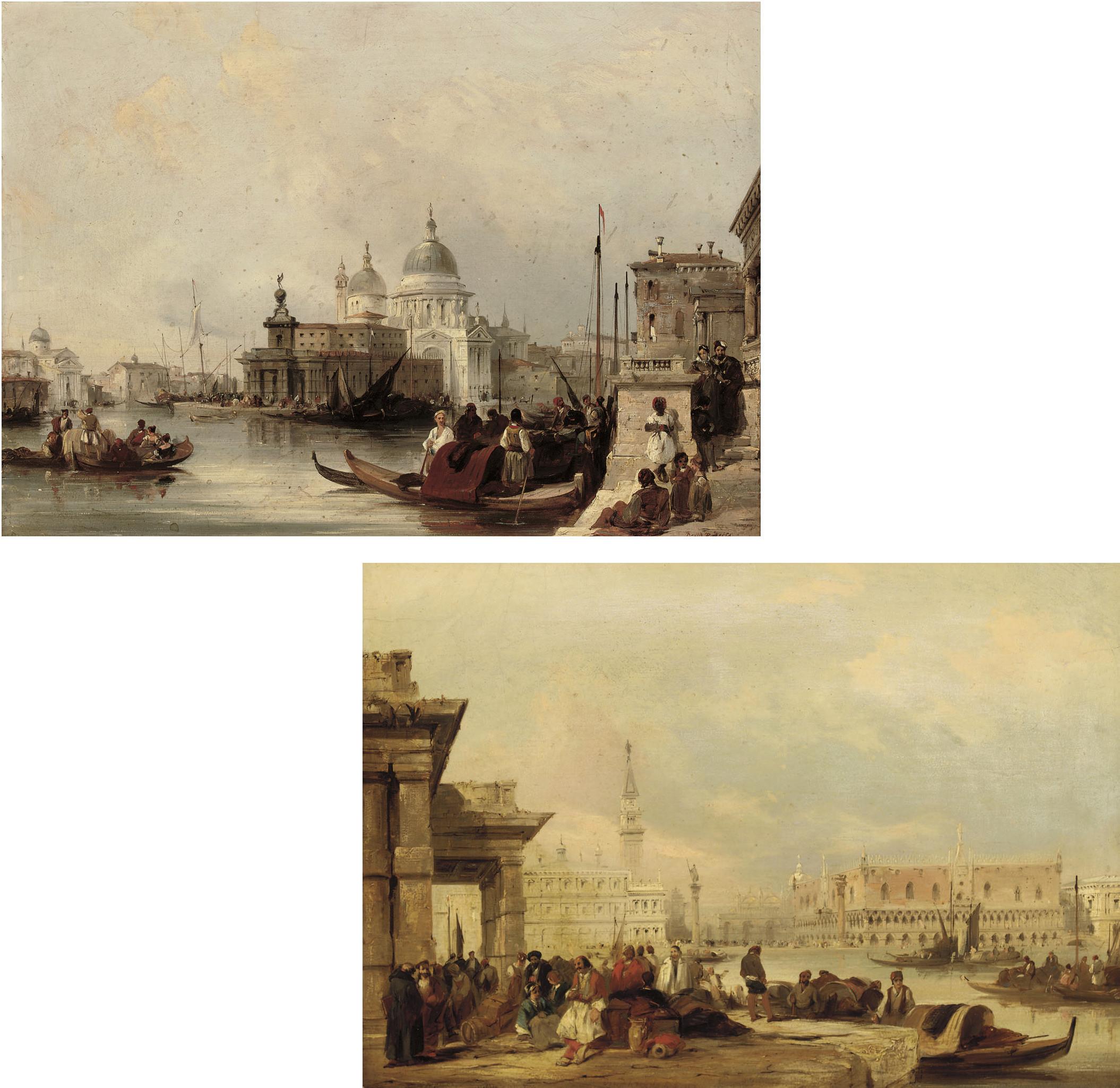 the Doge's Palace from the Dogana; and Santa Maria della Salute, Venice