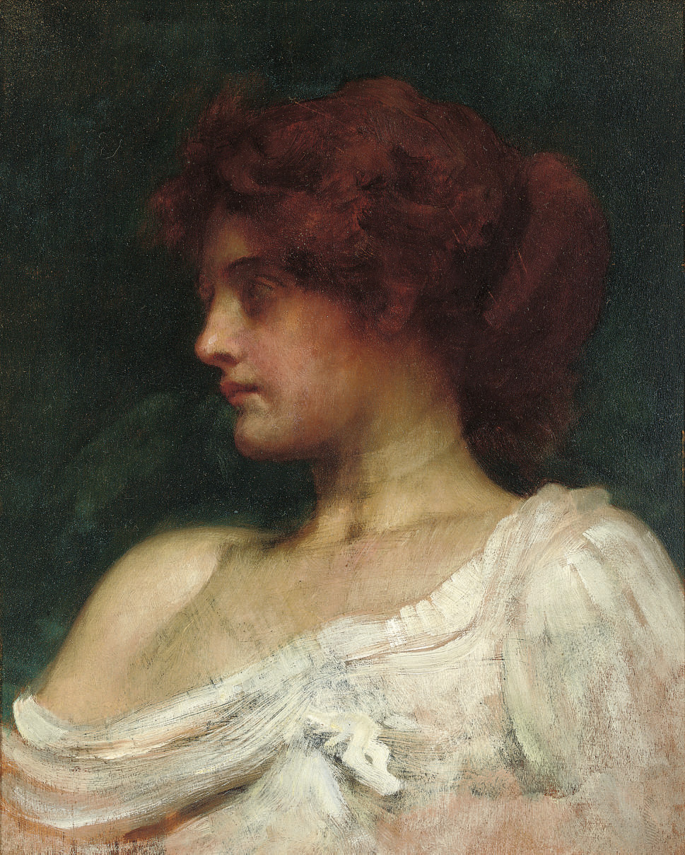 Study of a redheaded woman