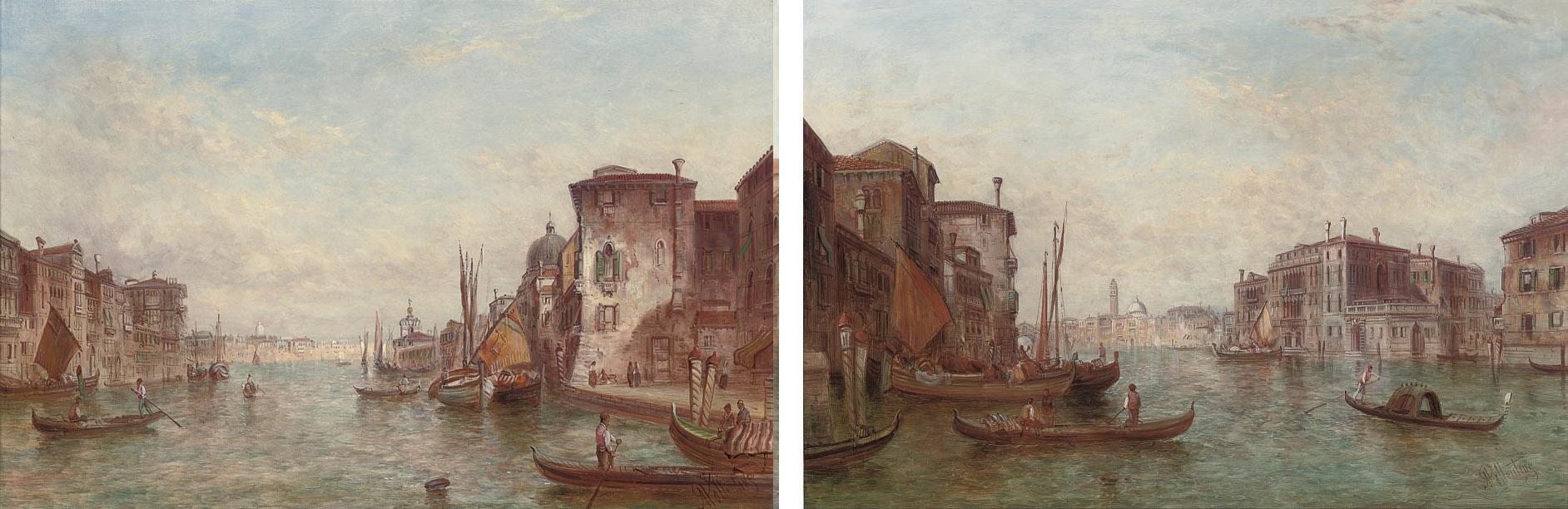 Barbariya Palace, Venice; and The Grand Canal, Venice