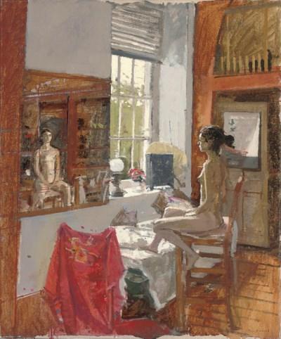 Ken Howard, R.A. (b. 1932) , Nude in a studio | Christies