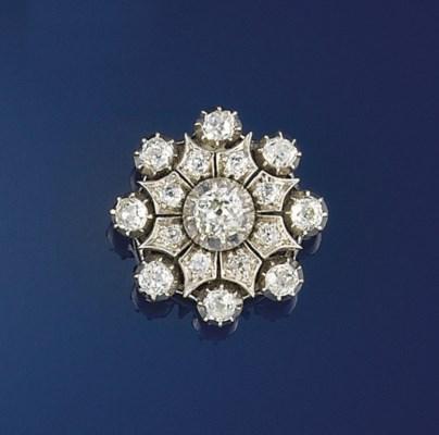 A Victorian diamond brooch