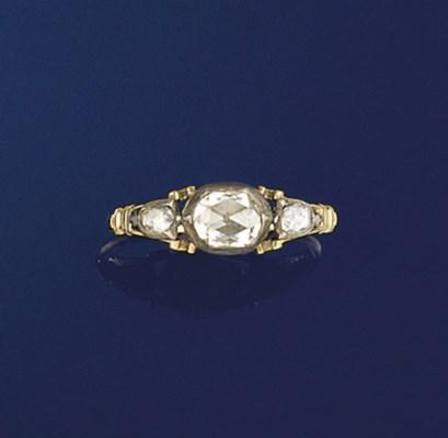 A George III rose-cut diamond