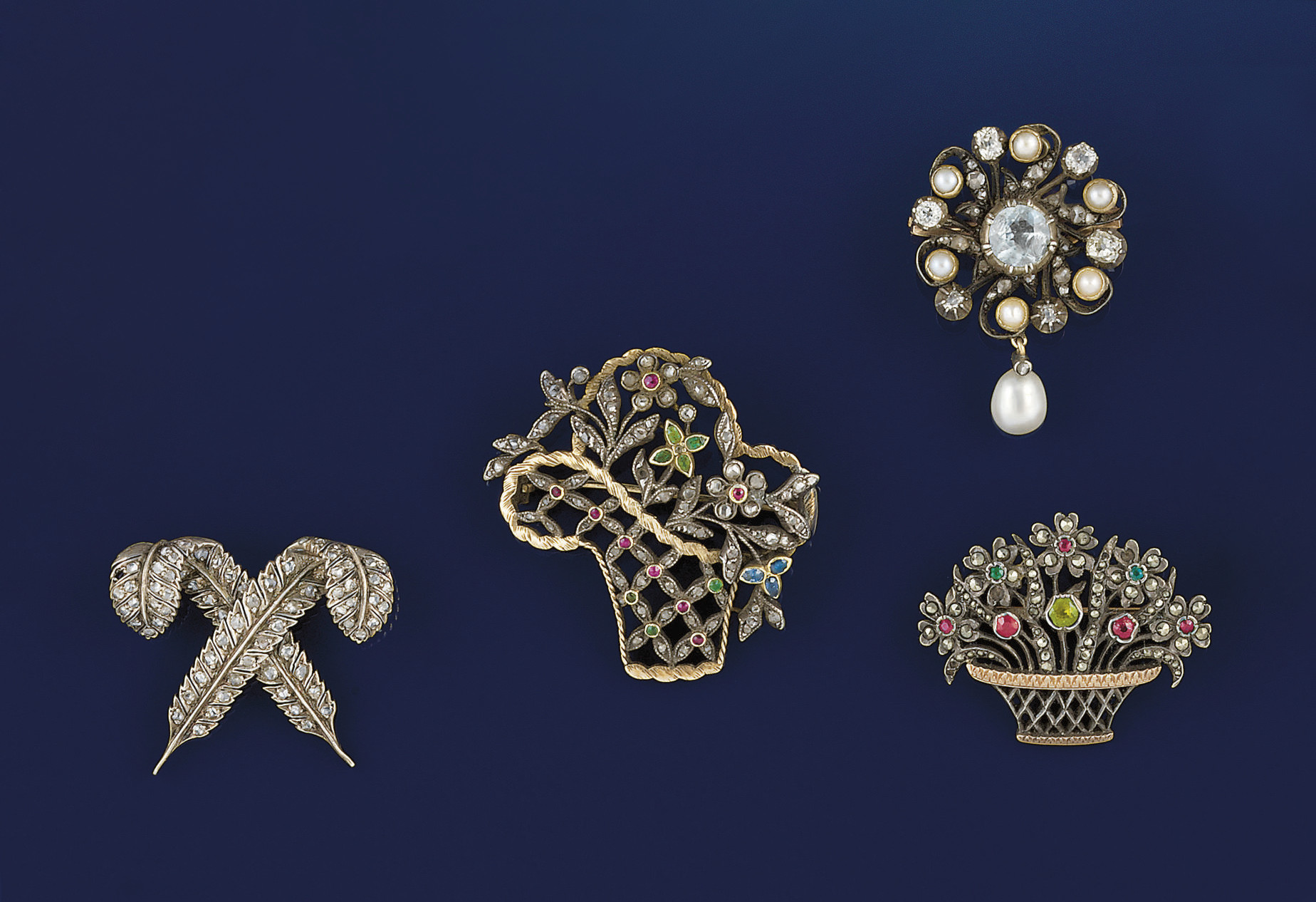 Four 19th century brooches