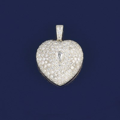 A diamond heart locket pendant