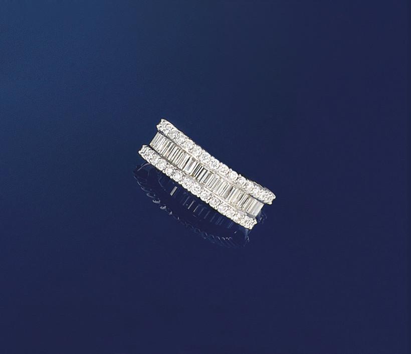 A diamond half-eternity ring