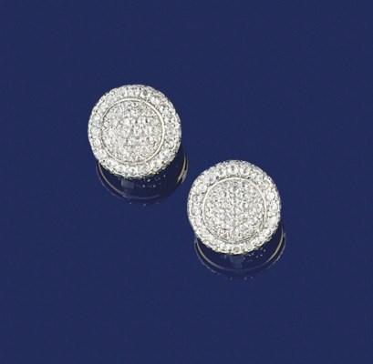 A pair of diamond circular clu