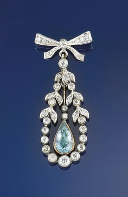 A diamond and paste brooch pen