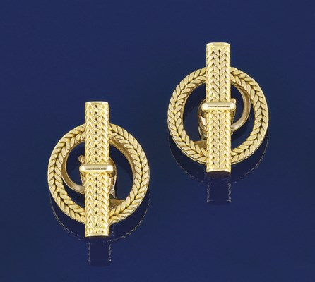 A pair of earclips, by Hermes