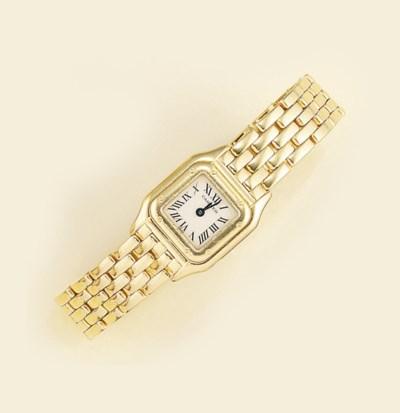 An 18ct. gold bracelet watch,