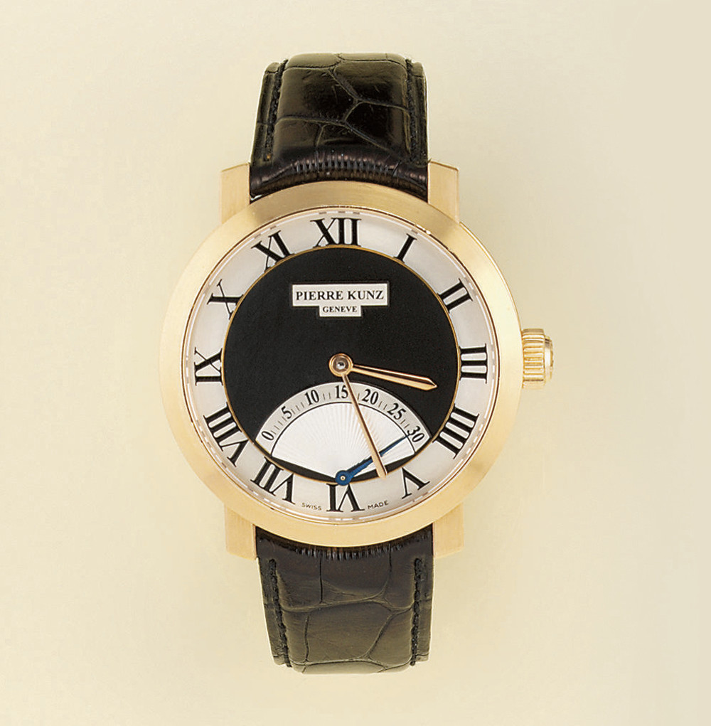 An 18ct. gold automatic retrog