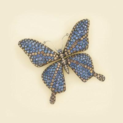 A coloured diamond and sapphir