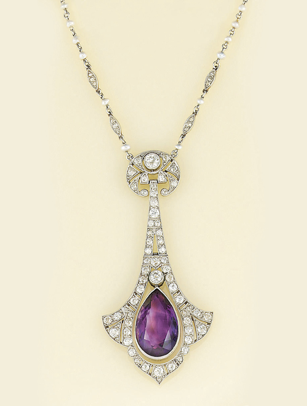 A Belle Epoque amethyst and di