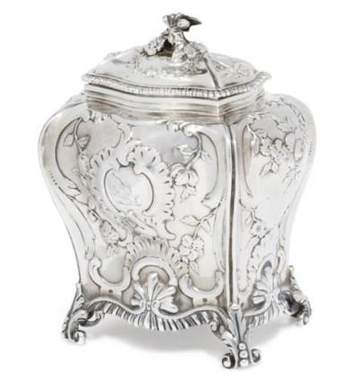 A GEORGE III ROCOCO SILVER TEA