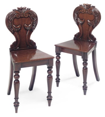 A PAIR OF WILLIAM IV MAHOGANY