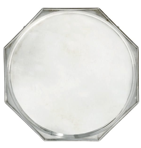 AN ART DECO SILVER SALVER