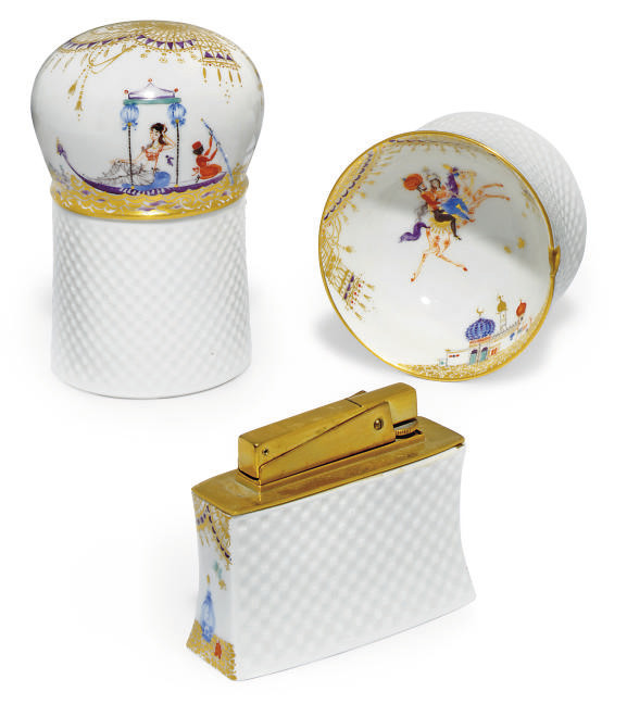 A MEISSEN COMPOSITE '1000 AND