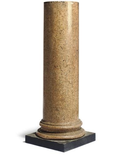 AN ITALIAN SCAGLIOLA PEDESTAL