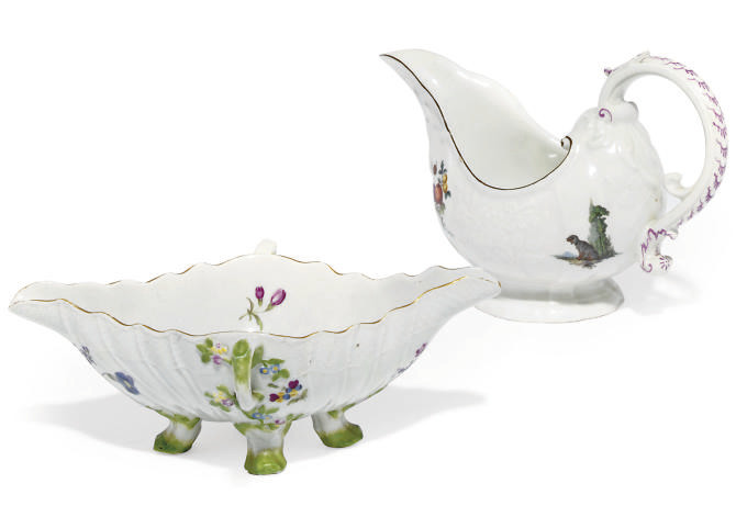 TWO MEISSEN SAUCEBOATS