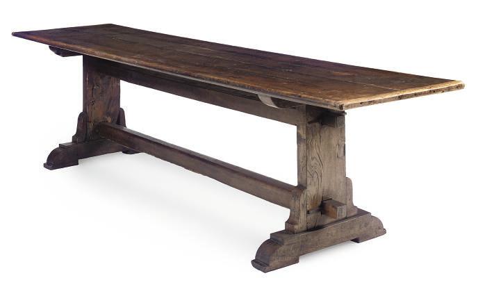 AN OAK FARMHOUSE TABLE