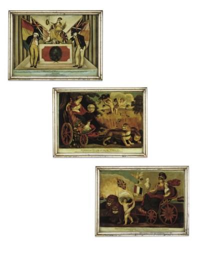 THREE REGENCY MEZZOTINTS-UNDER