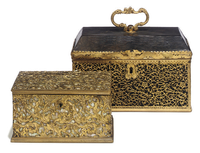 A CONTINENTAL GILT-COPPER AND