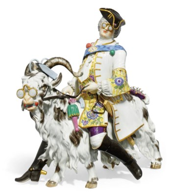 A LARGE MEISSEN FIGURE OF COUN