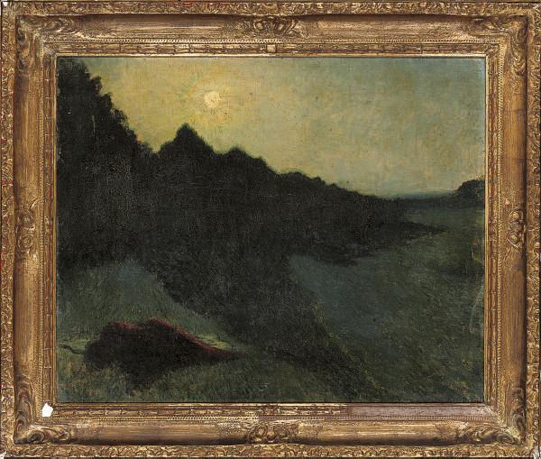 A moonlit landscape