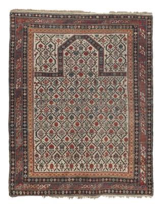 An antique Shirvan prayer rug