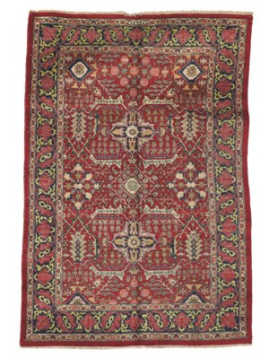 A fine Khoy Tabriz small carpe