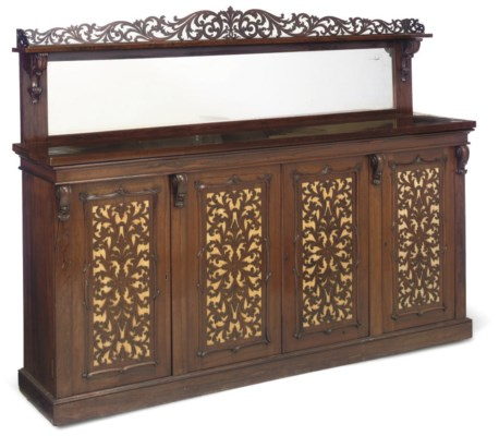 A LATE VICTORIAN ROSEWOOD SIDE