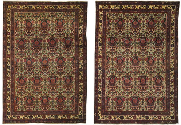 A pair of West Persian carpets