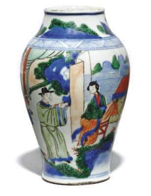 A CHINESE WUCAI JAR