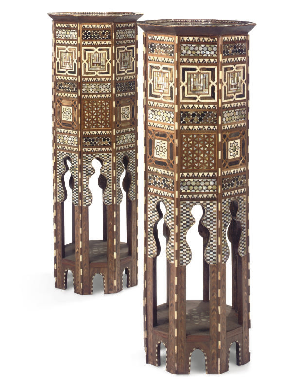 A PAIR OF NORTH AFRICAN HARDWO