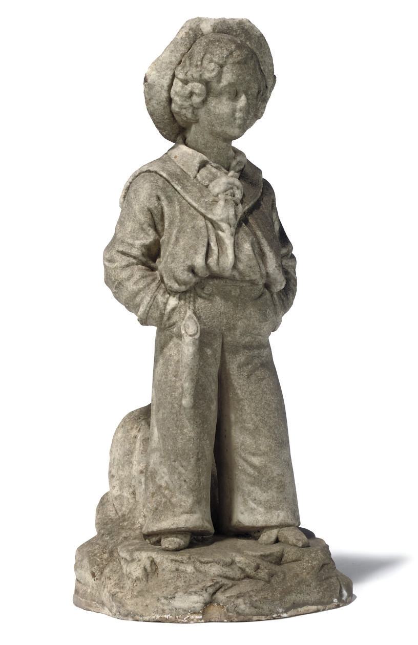 A VICTORIAN MARBLE FIGURE OF A
