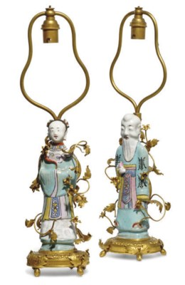 A PAIR OF CHINESE ORMULU MOUNT