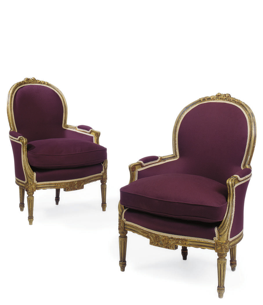A PAIR OF GUSTAVIAN CREAM AND