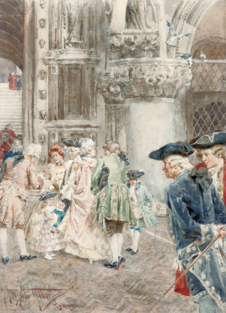 Gossiping outside a Venetian church