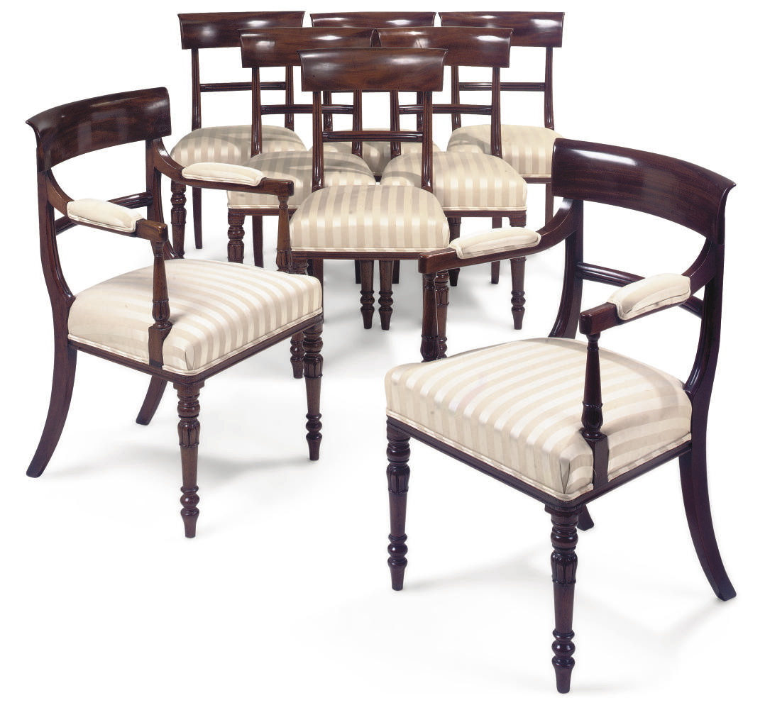 A SET OF WILLIAM IV MAHOGANY D