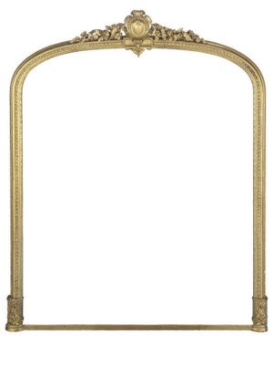A LARGE GILTWOOD AND COMPOSITI